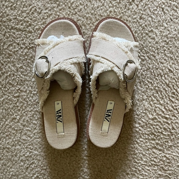 Zara Platform sandals 41